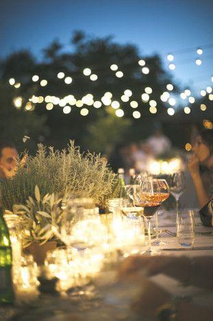 Night time reception | Stylish Al Fresco Wedding in Tuscany | Divine Day Photography | Bridal Musings Wedding Blog