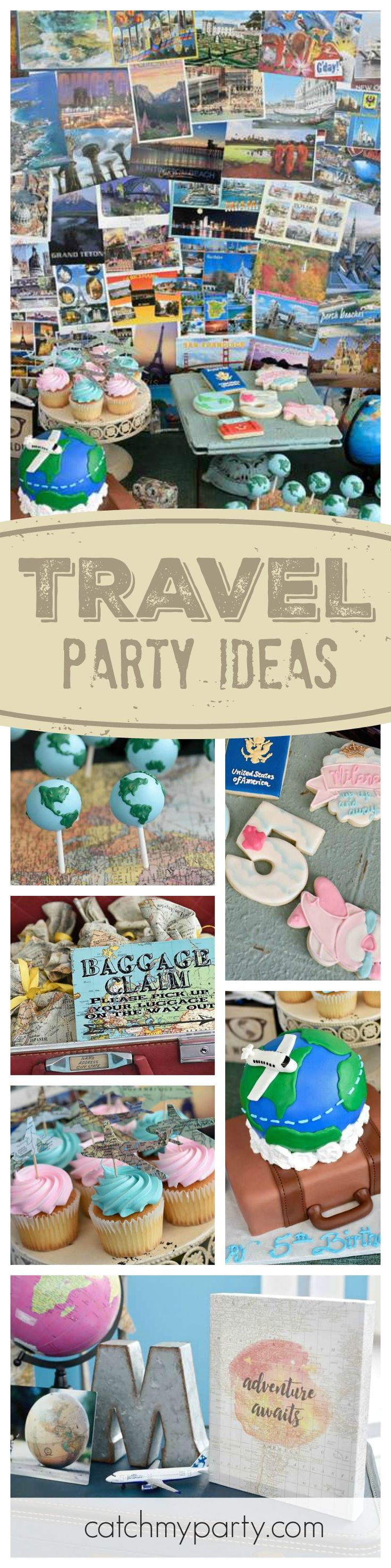 Travel the world with this awesome birthday party! Check out the cute globe cake pops. They are amazing!! See more party ideas and share yours at CatchMyParty.com
