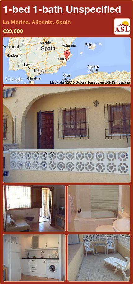 1-bed 1-bath Unspecified in La Marina, Alicante, Spain ►€33,000 #PropertyForSaleInSpain