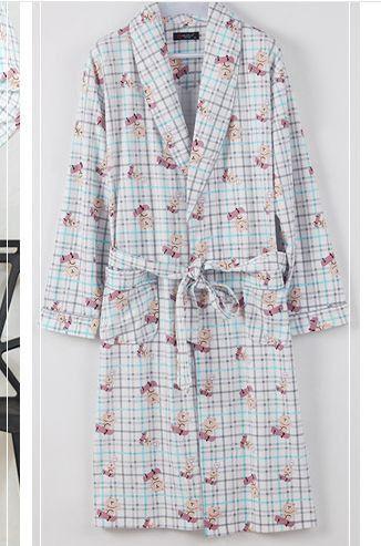 New Arrival Spring Men V-neck cotton Bathrobe men bathroom spa robe male plus size pajamas Traditional Yukata Sleepwear 050504