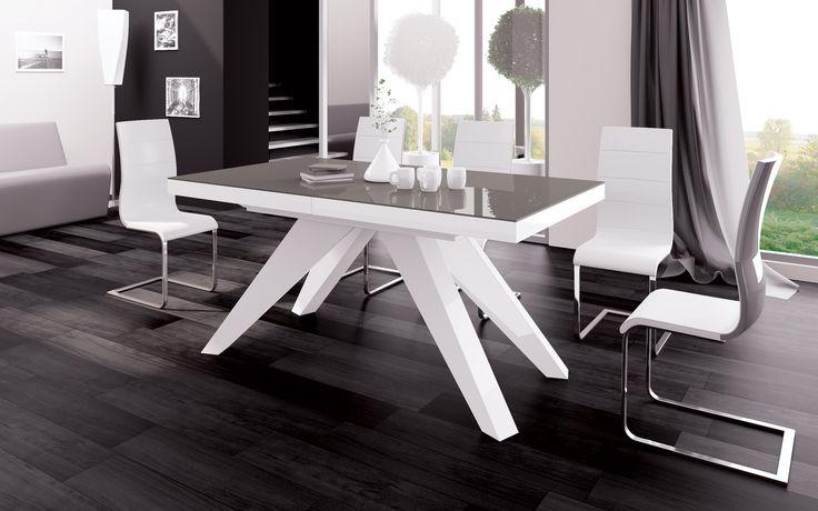 Makani- nowoczesny stół Hubertus, wysoki połysk