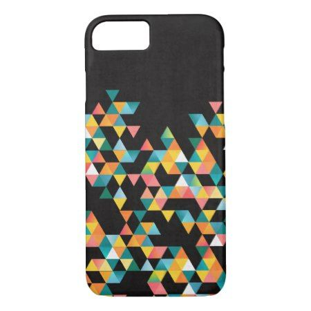 Tako - Colorful Vibrant Abstract Triangle Pattern iPhone 7 Case - tap, personalize, buy right now!