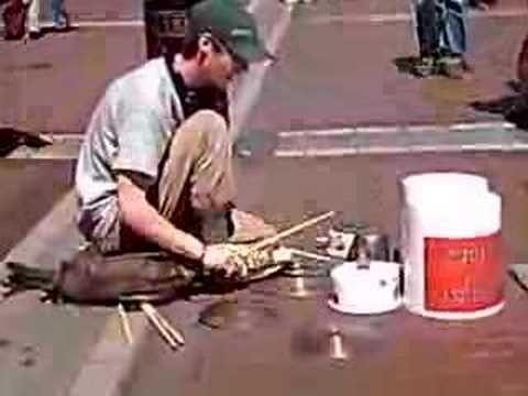 Street drummer, Ireland
