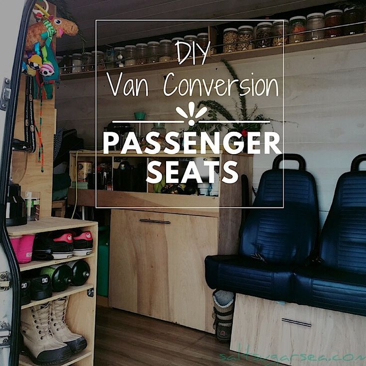 The design of our diy van conversion seats allows them to serve as a couch with a view, when we're parked. Here's the seats we used and how we installed