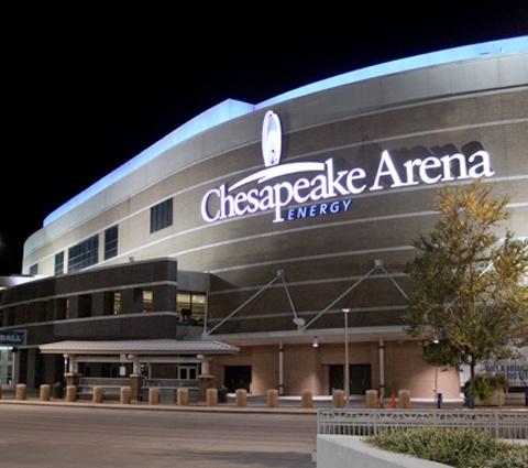 Chesapeake Arena in Oklahoma City (Home of the OKC Thunder)