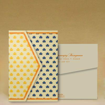 Radha Krishna Saffron: Wedding Invitation Cards Designs #WeddingCard #WeddingInvite #WeddingInvitations #WaterColor #IndianWedding #paisleys #ChristianWedding #YouAreInvited #Foil #Gold #Bling #Blue #Violet #RSVP #SaveTheDate