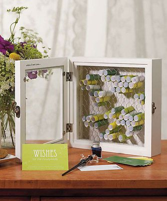 Wedding Guest Book Alternative Keepsake COUNTRY Wooden Wishing Well Box