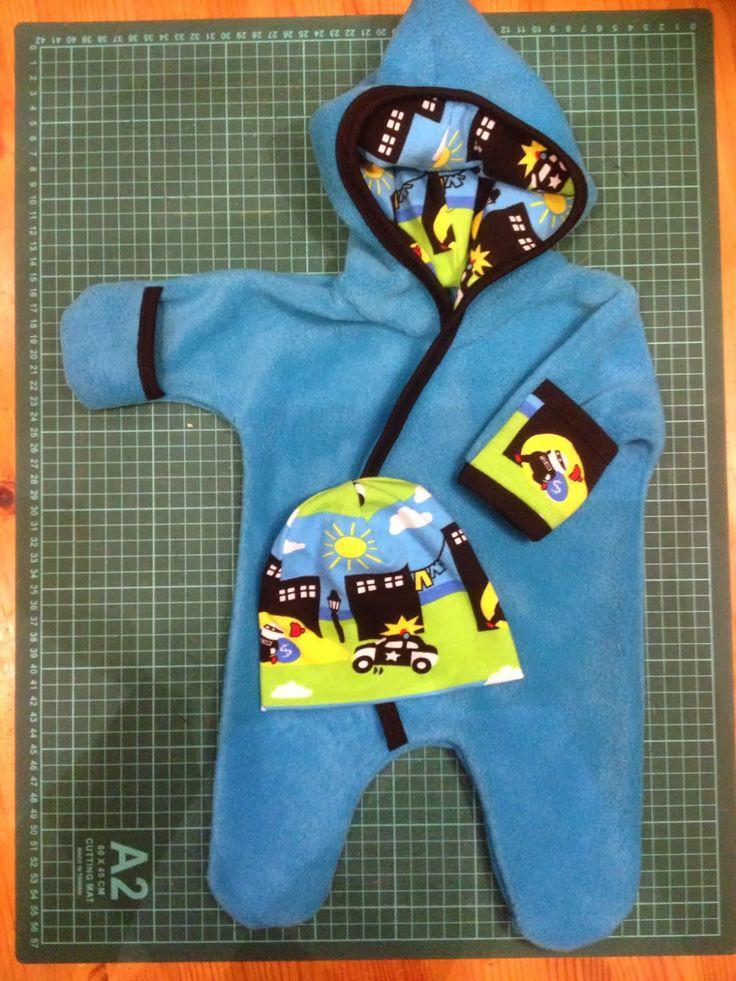 Prematurbarn i Gävle: Tutorial och mönster till prematuroverall i fleece