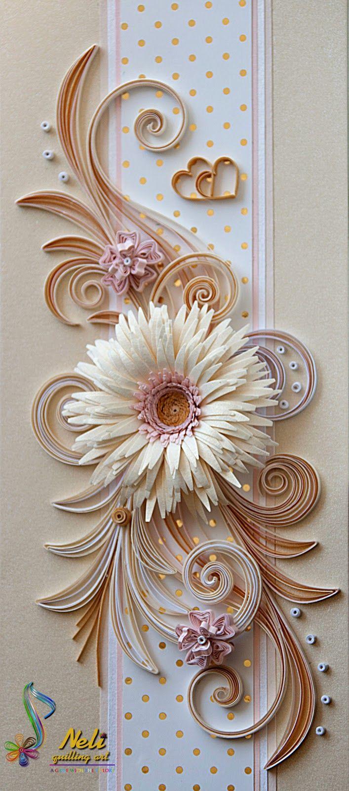 neli: Quilling card ( 20 cm - 9 cm )