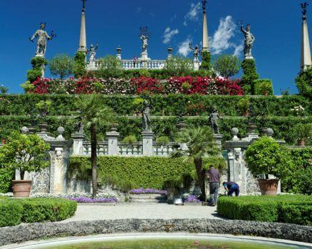 Baroque Gardens on Isola Bella, near Stresa, Italy