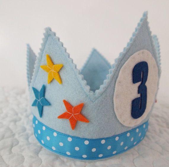 Circo cumpleaños corona corona de cumpleaños de fieltro por mosey