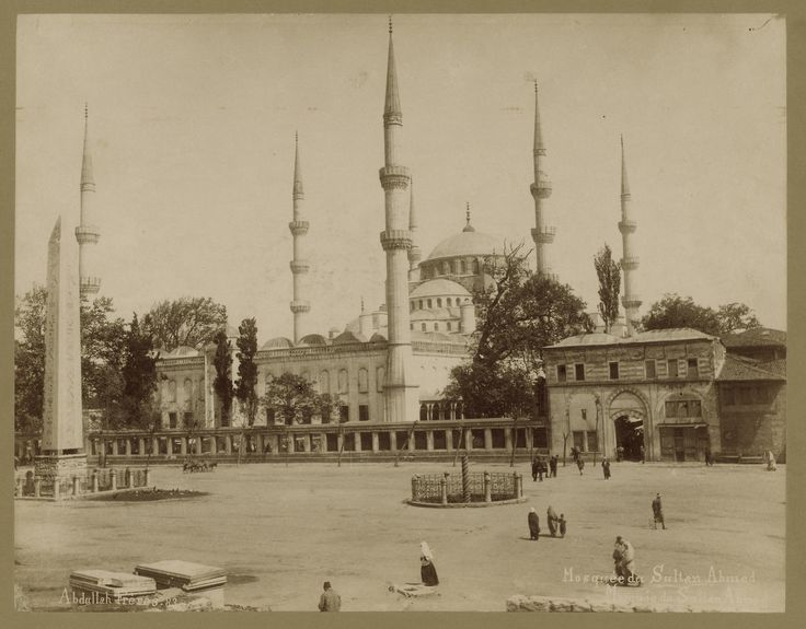 Atmeydanı ve Sultan Ahmet Camii Abdullah Fréres fotoğrafı 1880-1900 LOC Arşivi