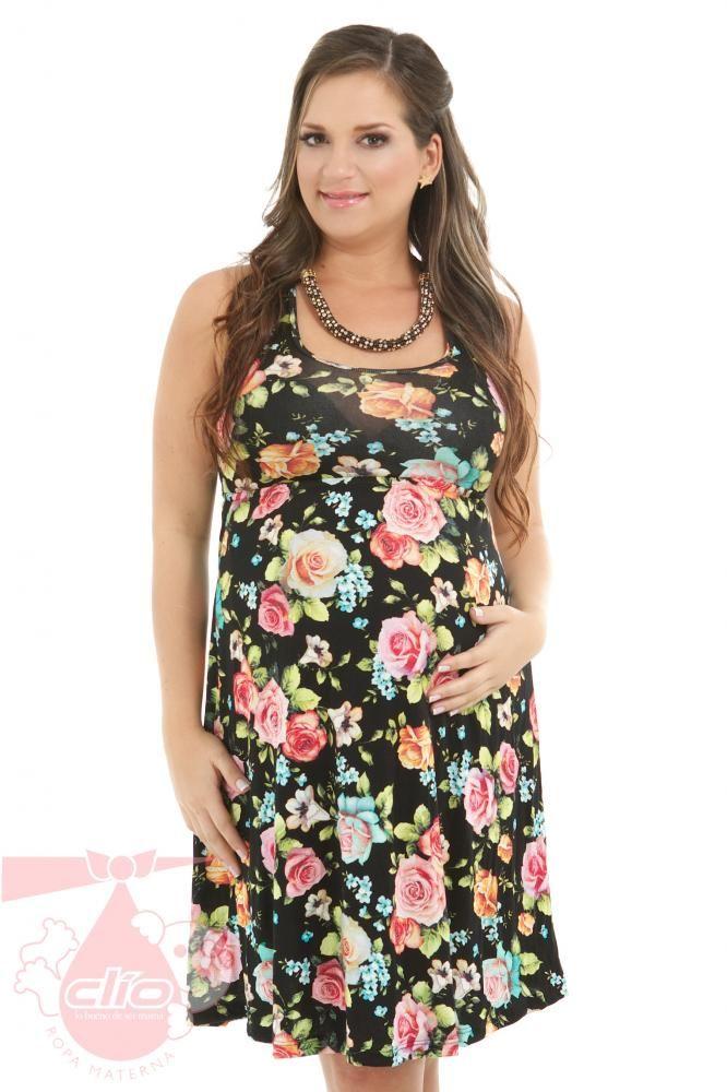 #Vestidos cortos para #embarazadas diseñados con telas estampadas en diferentes estilos. Encuentra la #ropa para tu #embarazo en www.clioropamaterna.com