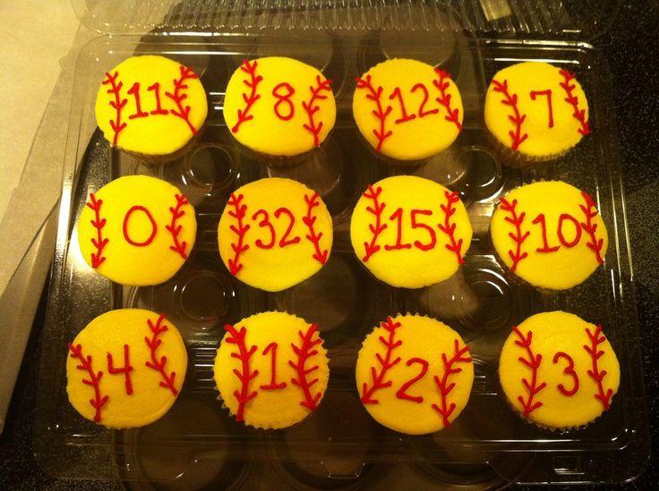 softball decoration | softball cupcakes - by HottCakesBakes @ CakesDecor.com - cake ...