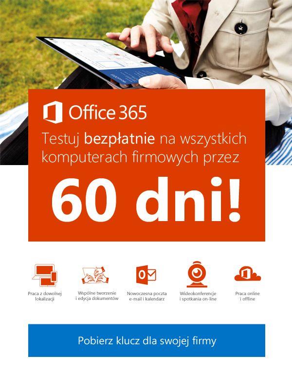 Jedna z testowanych kreacji mailingowej do firm #Office365dlaFirm