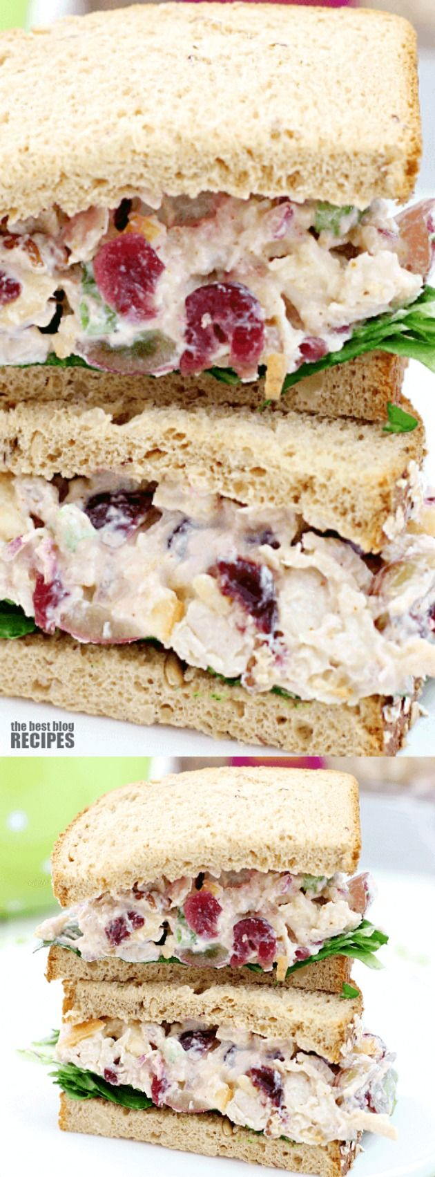 This Lighter Chicken Salad Sandwich from Love Bakes Good Cakes is the perfect recipe for a light lunch or dinner, or even as a lunchbox meal for those busy days.