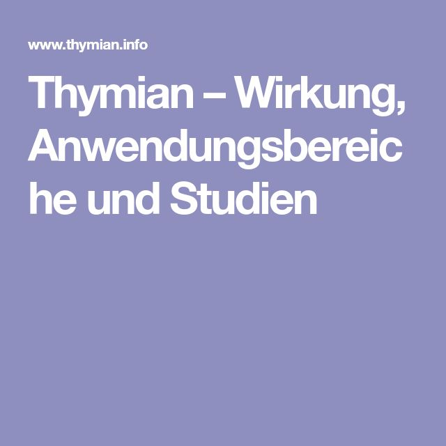 Thymian – Wirkung, Anwendungsbereiche und Studien