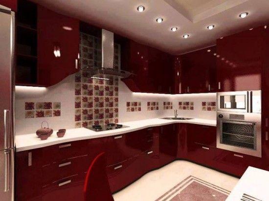 çok güzel kırmızı mutfak modeli