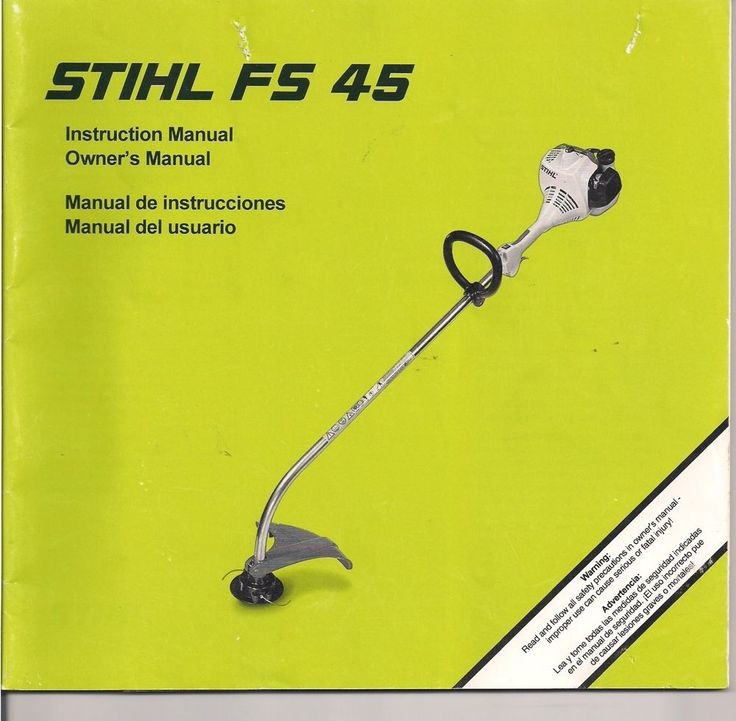 Stihl Fs45 String Trimmer Owners Instruction Maintenance