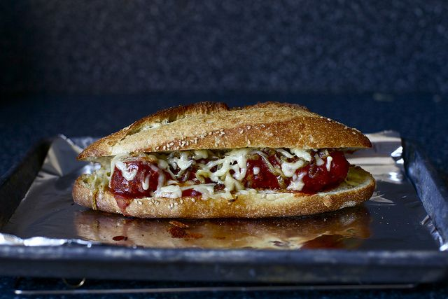 meatball sub with gruyere and caramelized onions | smittenkitchen.com