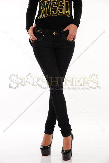Jeans pentru femei MissQ Simply Special DarkBlue