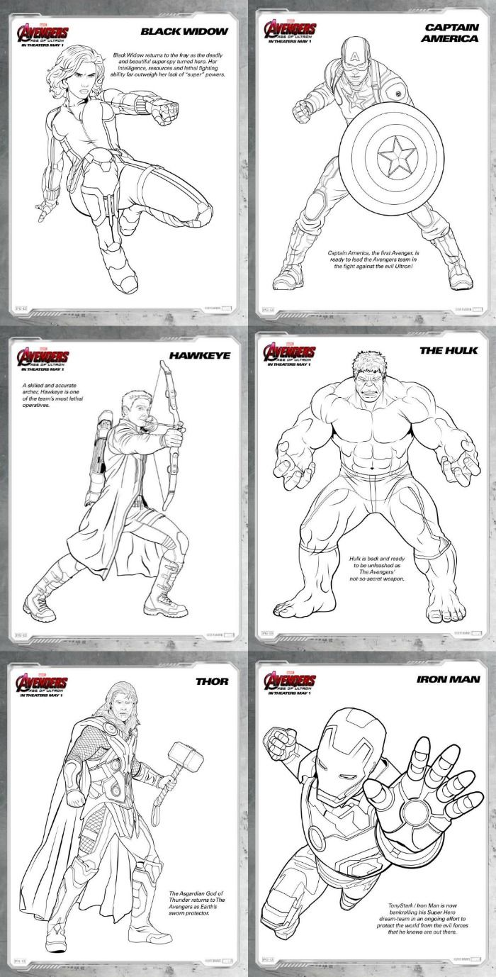 Free printable coloring in pages - Avengers Age Of Ultron Review And Free Printable Coloring Pages Avengers