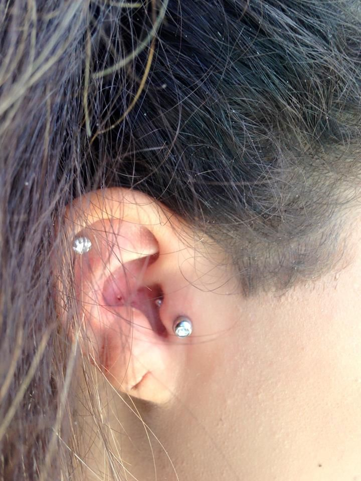 Double Piercing By Angel At Art Soul Tattoo And Gallery In New Glarus Wisconsin