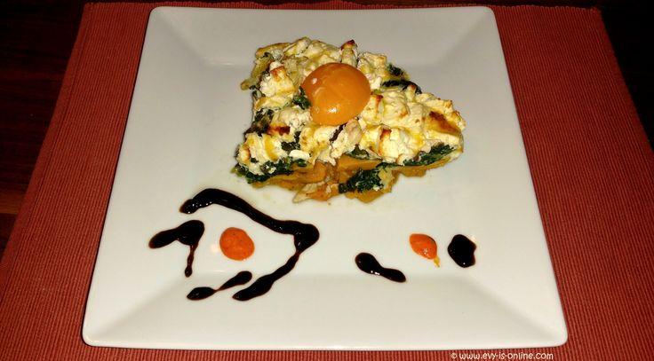 #Pastel de #camote y #espinaca | #Süßkartoffel #Spinat #Quiche  #Receta: http://evy-is-online.com/pastel-de-camote-y-espinaca/  #Rezept: http://evy-is-online.com/suesskartoffel-spinat-quiche/