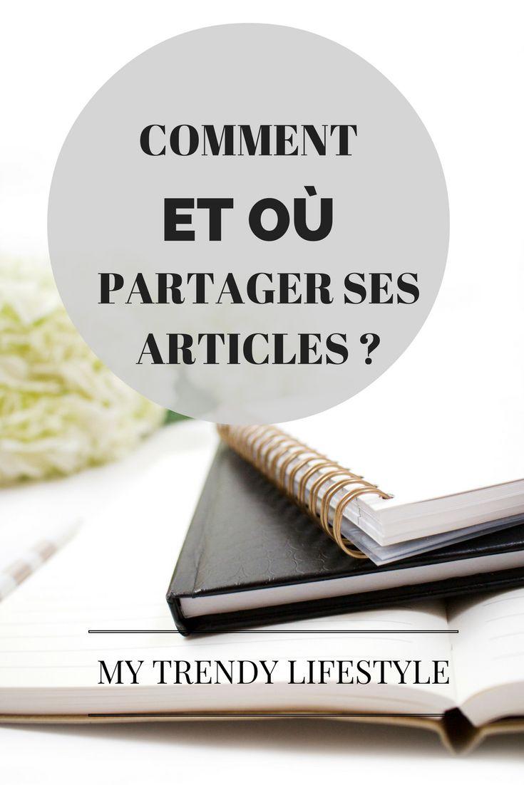 Comment et où partager ses articles ?