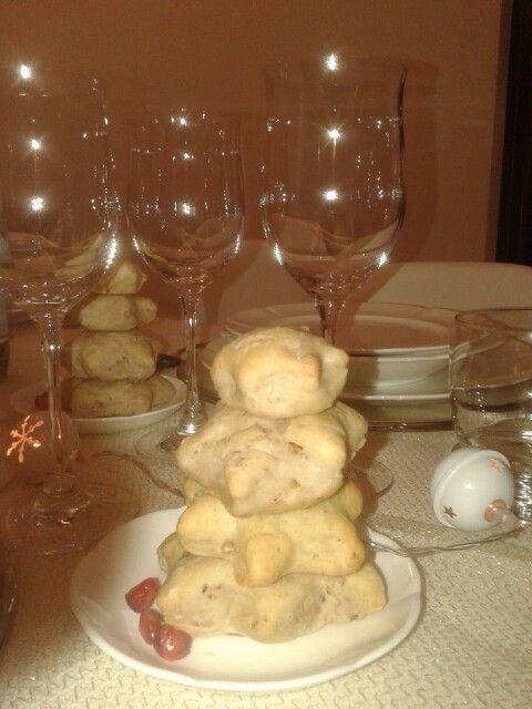 Segnaposti feste #alberelli pane alle noci