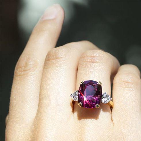 Garnet engagement ring                                                                                                                                                                                 More