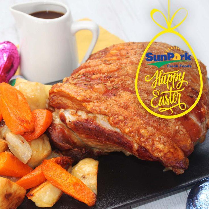 Roast pork with Apple Cider Gravy -  Pork Roast for Easter Lunch? Try out SunPork Roast Fennel Pork with apple cider Gravy—With perfect Cracking every time!