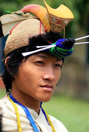 Nishi Tribal man Arunachal Pradesh, India #world #cultures