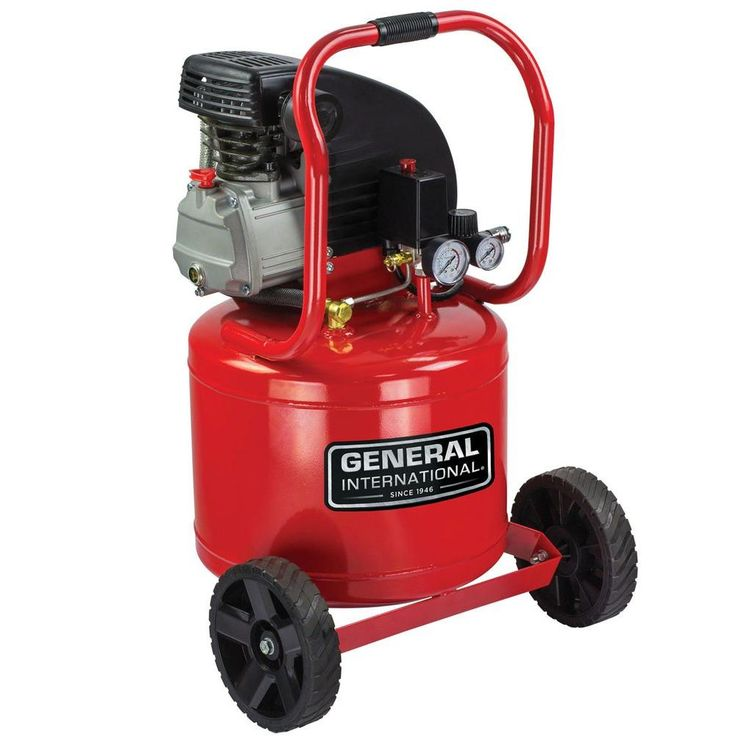 11 Gal. 2 HP Oil-Lubricated Portable Electric Vertical Air Compressor with Wheel Kit