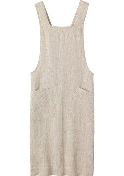 LINEN CROSS OVER APRON | Apron in good quality, slubby, robust washed linen from the Baltic.