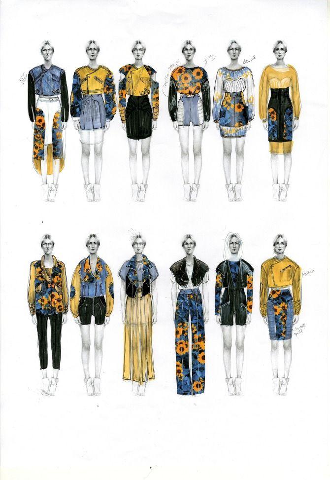 Evelina Romano - Skin Flowers #fashionillustration