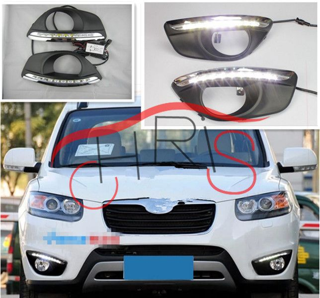 # Lowest Prices Car LED DRL Daytime Running Lights for Hyundai Santa Fe 2010 2011 2012with fog lamp hole Dimming style Relay and Waterproof 12V [wC96ykXh] Black Friday Car LED DRL Daytime Running Lights for Hyundai Santa Fe 2010 2011 2012with fog lamp hole Dimming style Relay and Waterproof 12V [9kyhC6i] Cyber Monday [JIATQV]