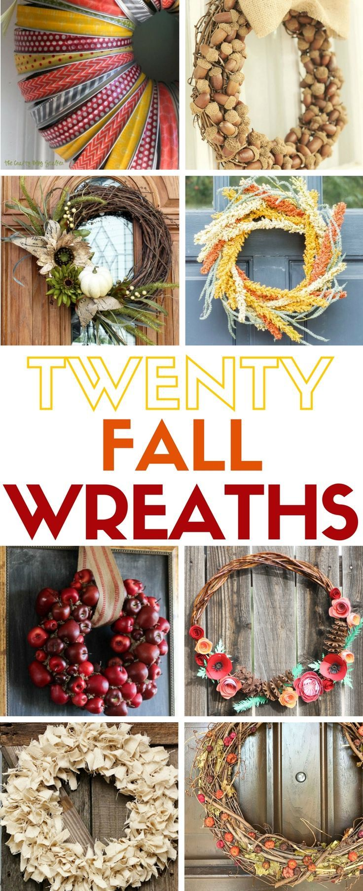 Simple Fall Wreath: 25+ Best Ideas About Easy Fall Wreaths On Pinterest
