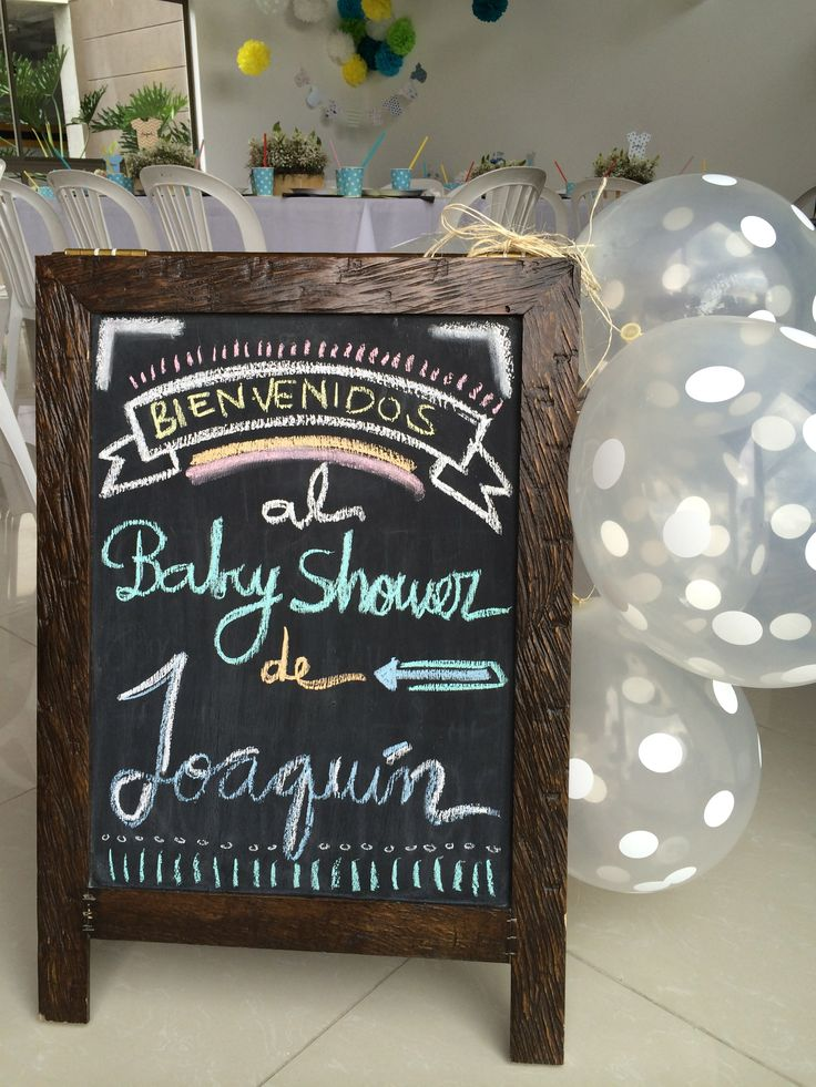 Baby shower - chalkboard