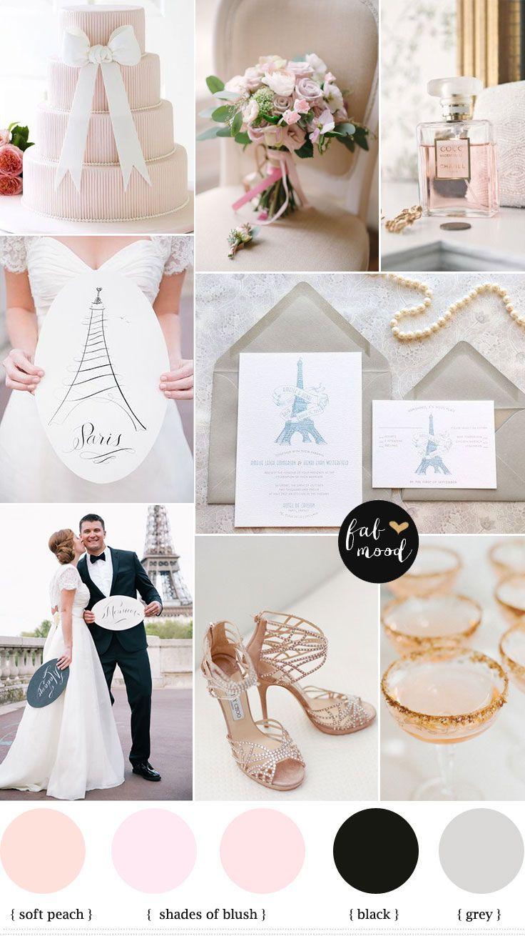 Destination wedding in paris,French chateau wedding,blush and grey wedding colours palette,wedding colors,elegant wedding in Paris,paris wedding ideas,palette