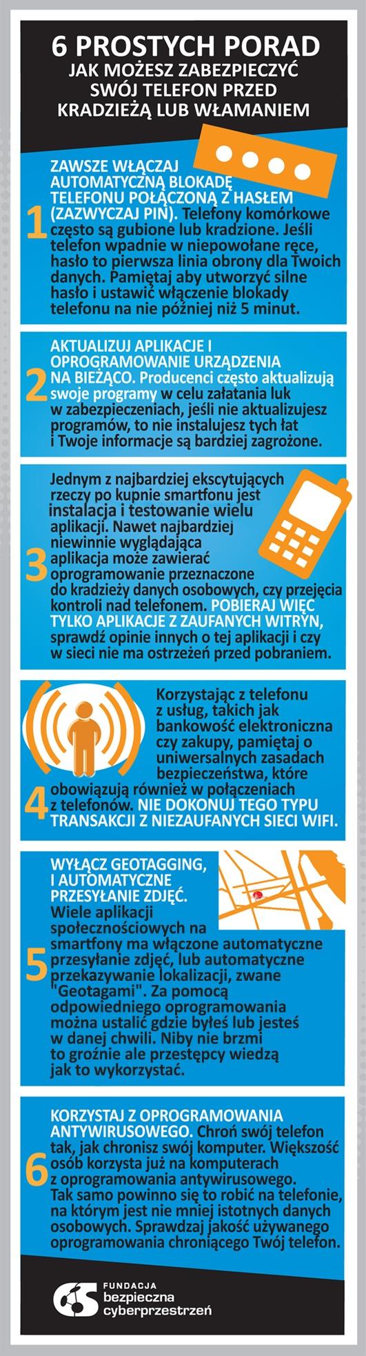 6 PROSTYCH PORAD JAK MOŻESZ ZABEZPIECZYĆ SWÓJ TELEFON PRZED KRADZIEŻĄ LUB WŁAMANIEM.