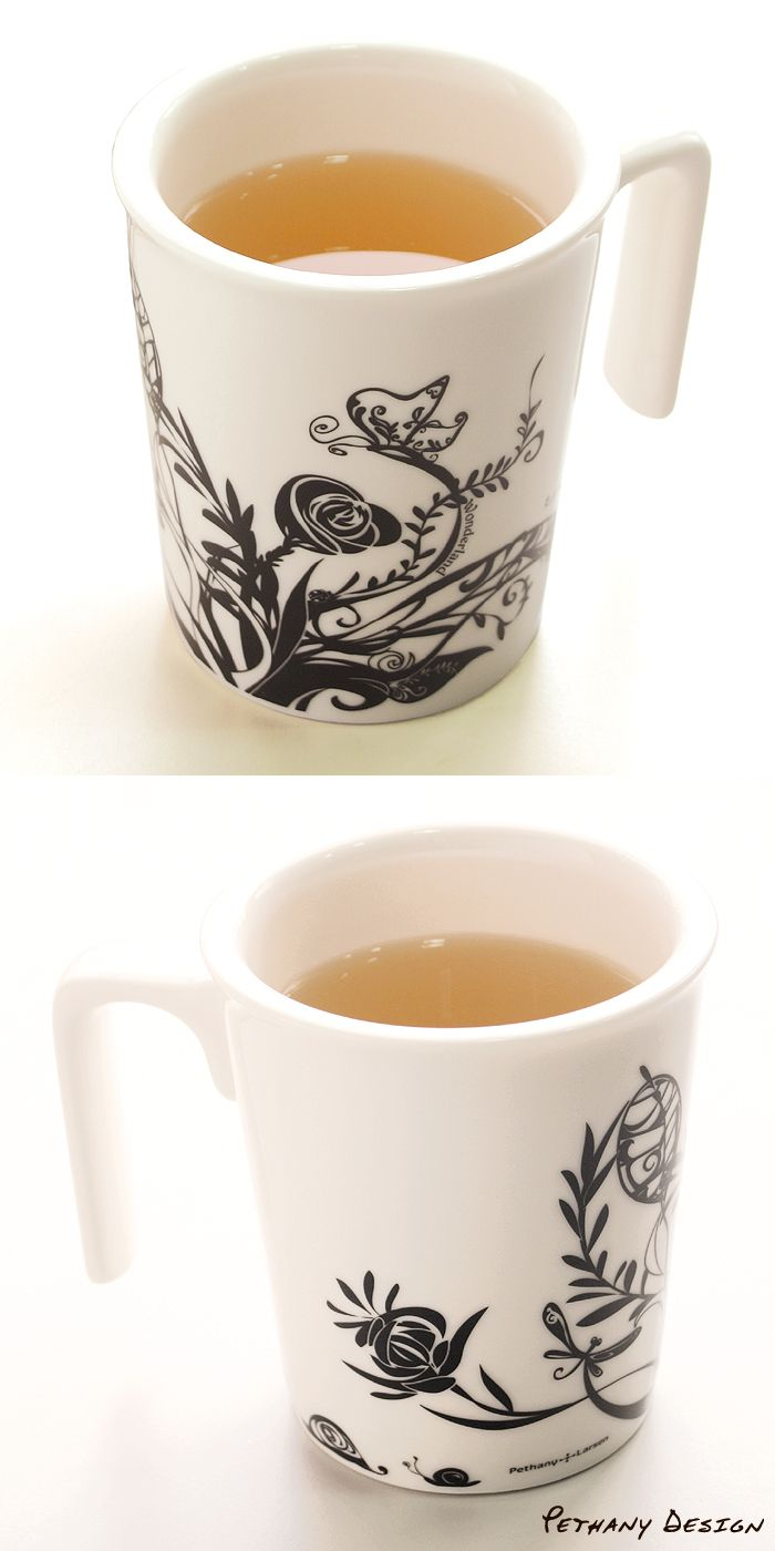 [ Wonderland Kissing Mug (2010)] Material: Porcelain; Designed in 2009 for Pethany+Larsen. Made in Taiwan.