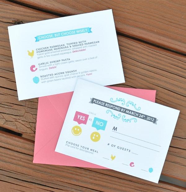 CMYK Themed Wedding Invites and more by Lauren Okura, via Behance