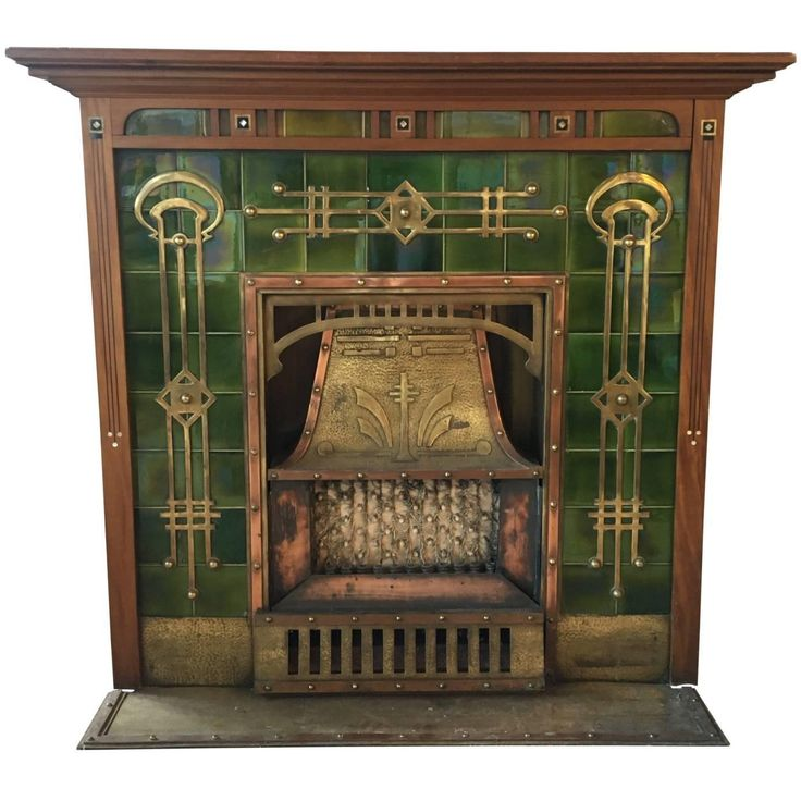 Breathtaking Art Deco Fireplace, circa 1920s | From a unique collection of antique and modern fireplaces and mantels at https://www.1stdibs.com/furniture/building-garden/fireplaces-mantels/