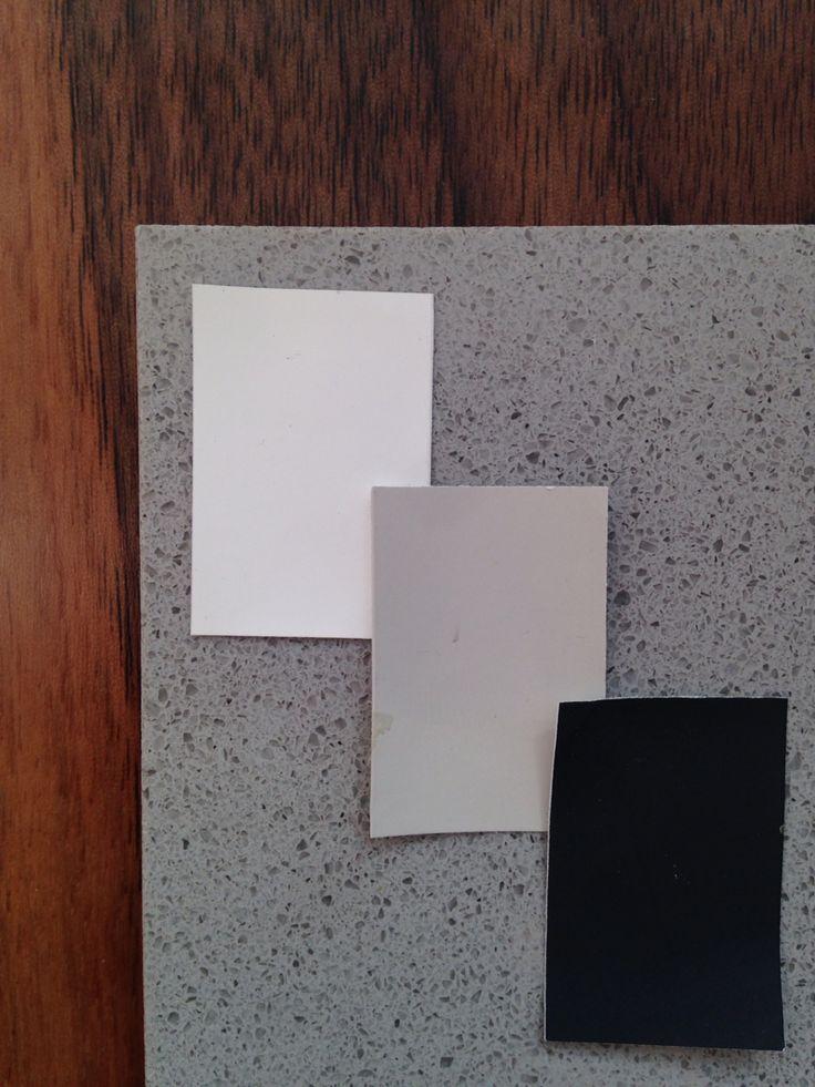 Kitchen diner colours - walnut, Cornforth White, Railings, White and Concreto Light