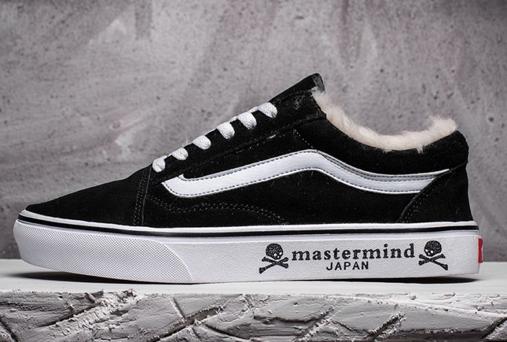 Mastermind Japan x Vans Old Skool Fur Black Suede Skate Shoes