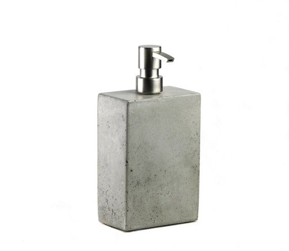 Concrete Soap Dispenser by roughfusion on Etsy