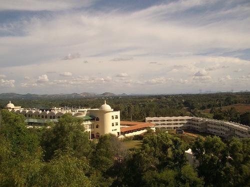 Aerial view of the Ashram