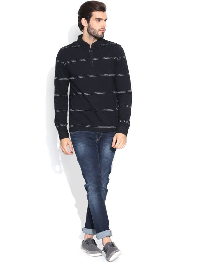 Dream of Glory Inc. Black Striped T-shirt