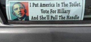 Hillarious Anti-Hillary Bumper Sticker Is The Best We've Ever Seen!
